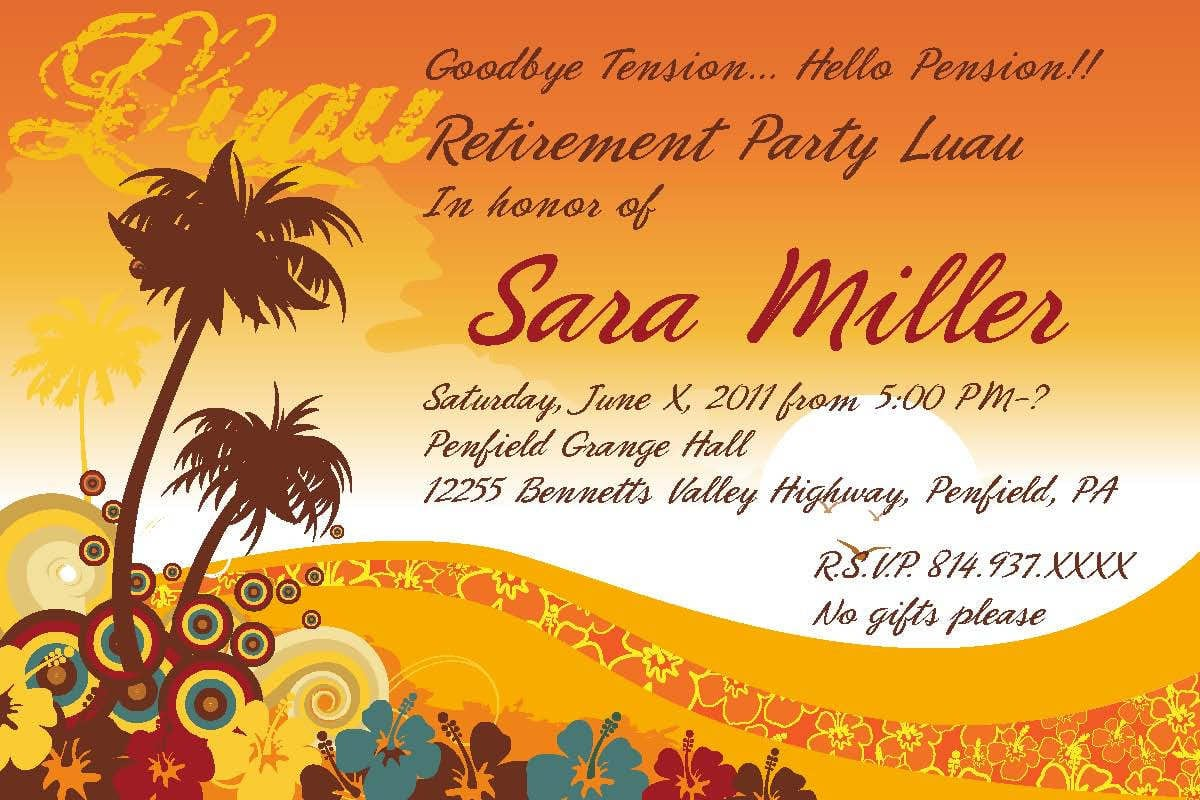 Retirement Party Invitation Template – Gangcraft Net