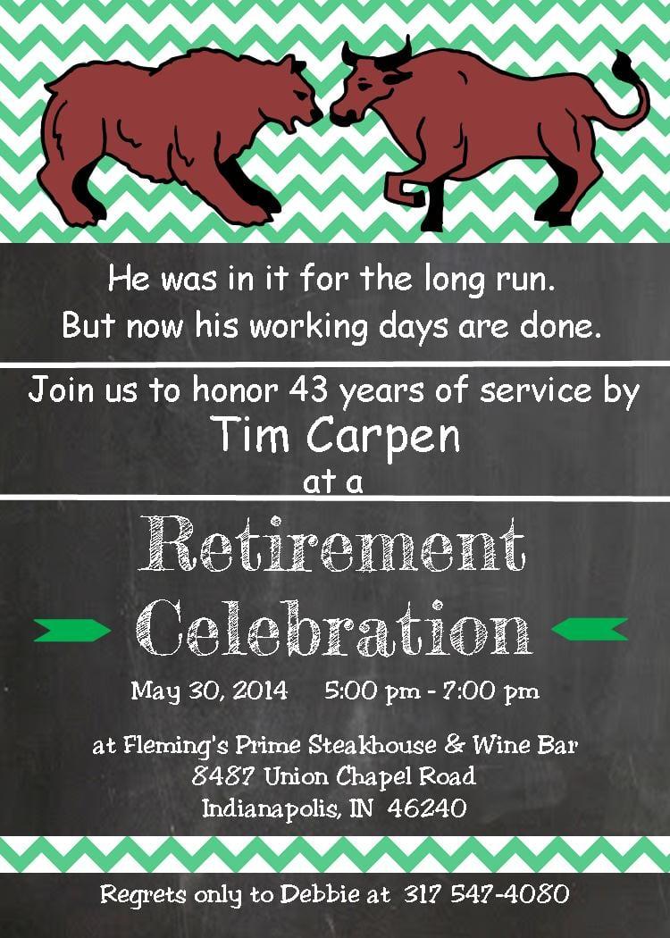 Retirement Party Invitations Custom Designed New For Spring 2017