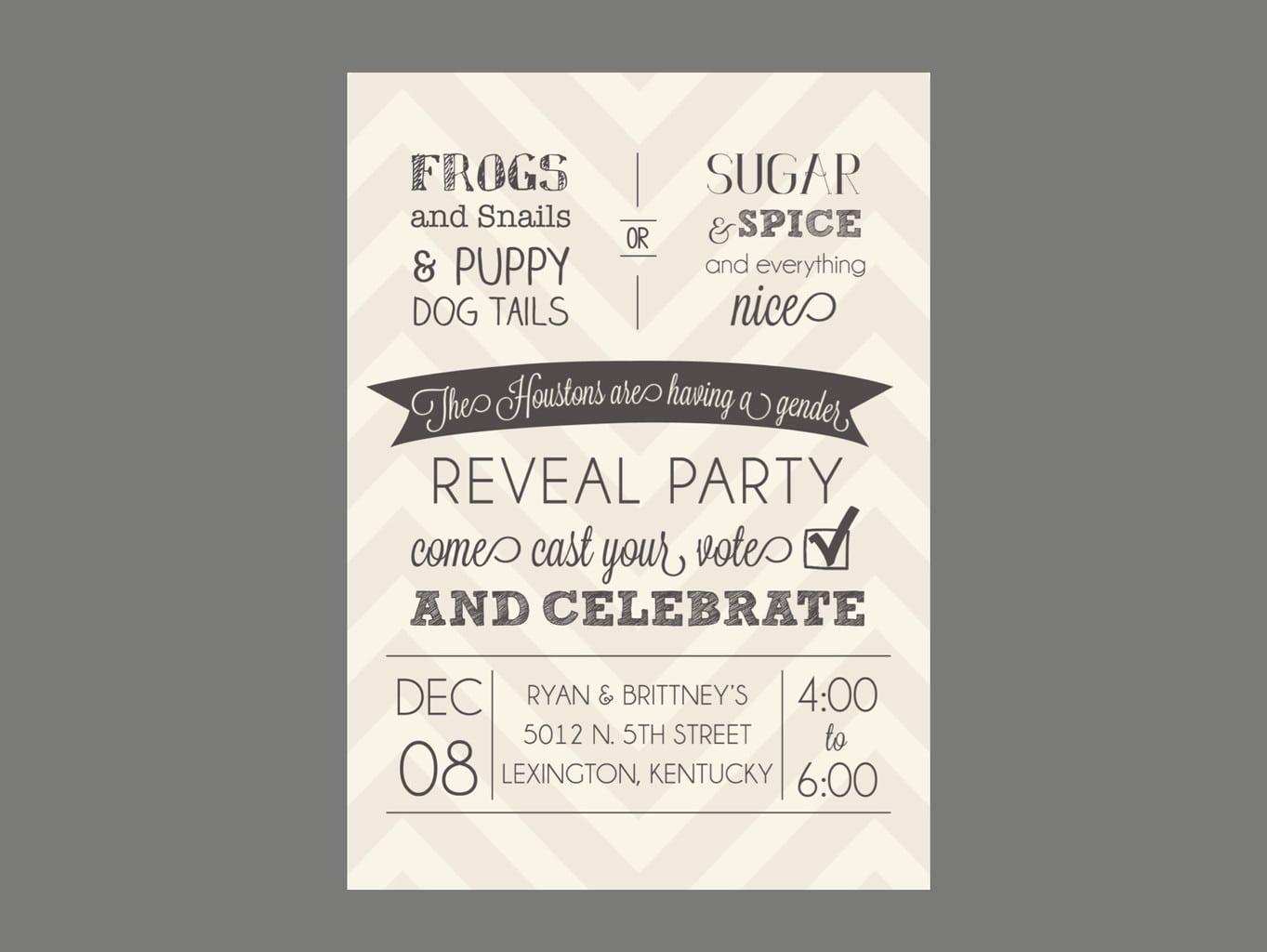 Reveal Party Invitations – Gangcraft Net