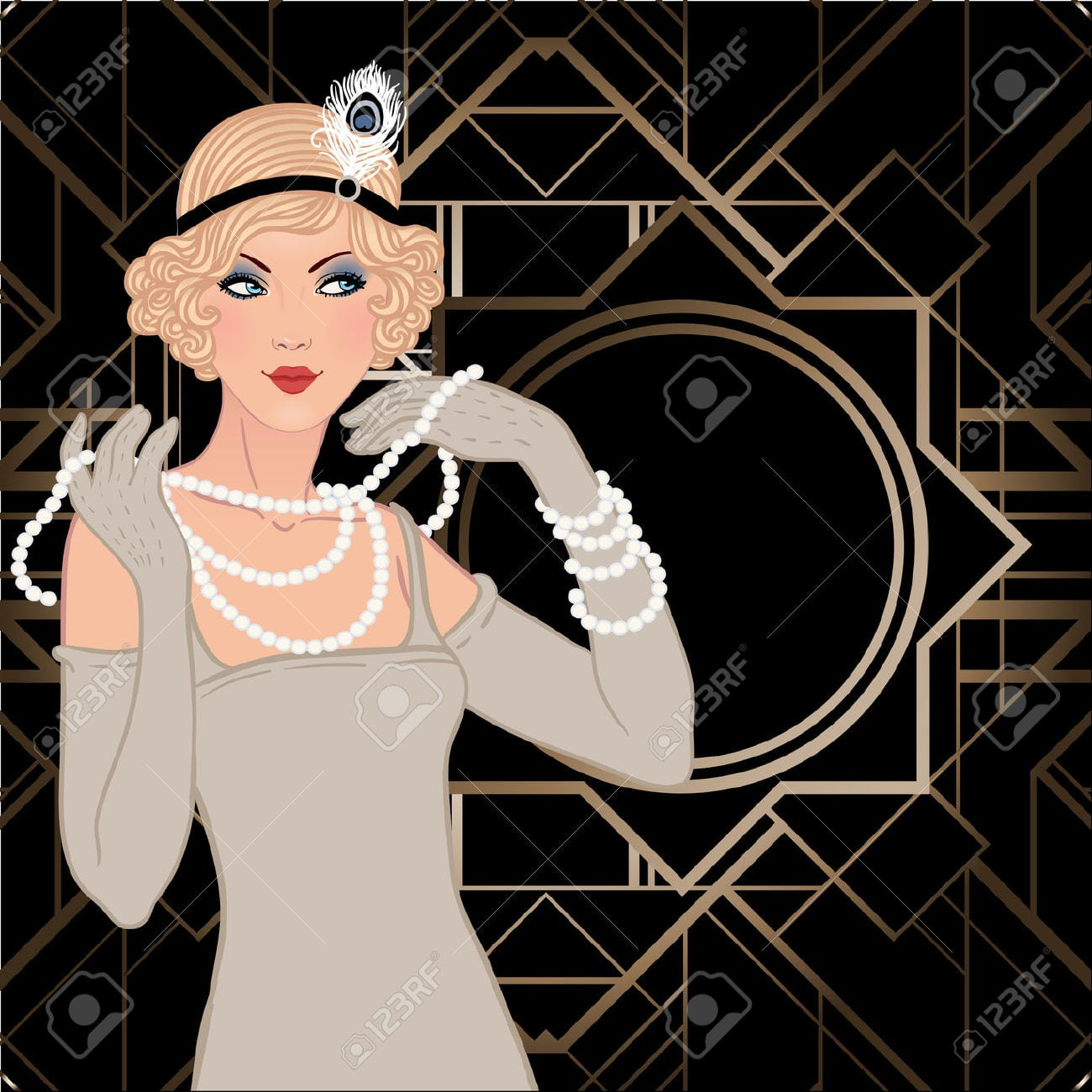 Roaring 20s Party Clipart