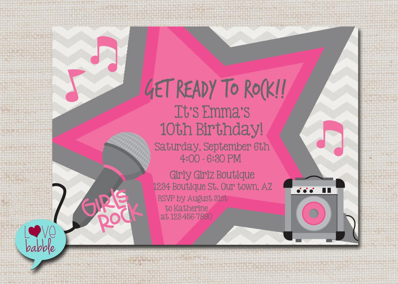 Karaoke party invitation mickey mouse invitations templates rock star party karaoke party super star party invitation monicamarmolfo Image collections