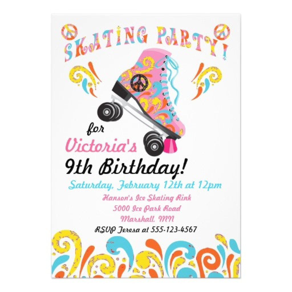 Ice Skating Party Invitation Wording - Mickey Mouse Invitations ...