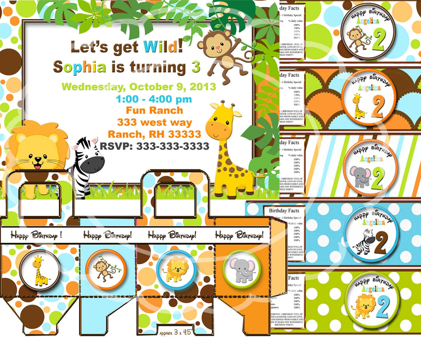 Jungle Themed Birthday Party Invitations is luxury invitations layout