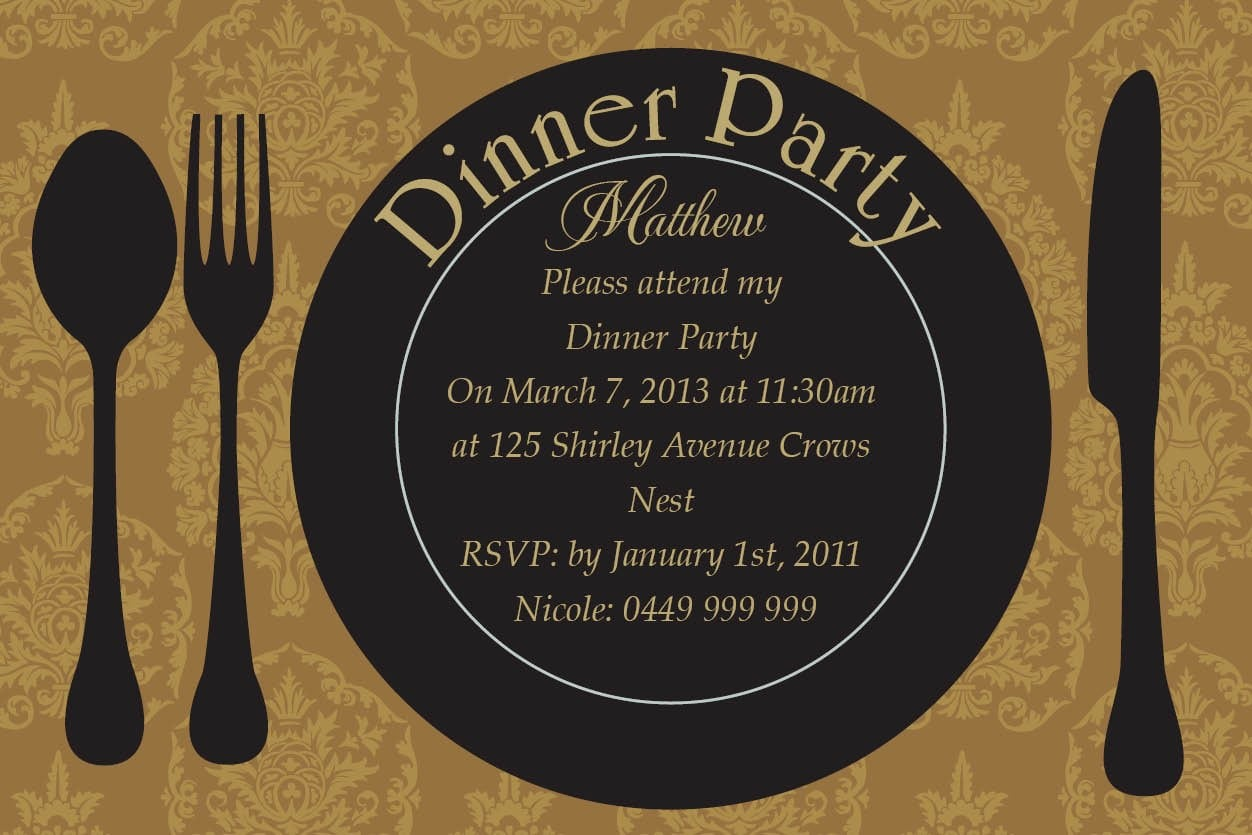 Sample Dinner Party Invitations Perfect Sample Dinner Party