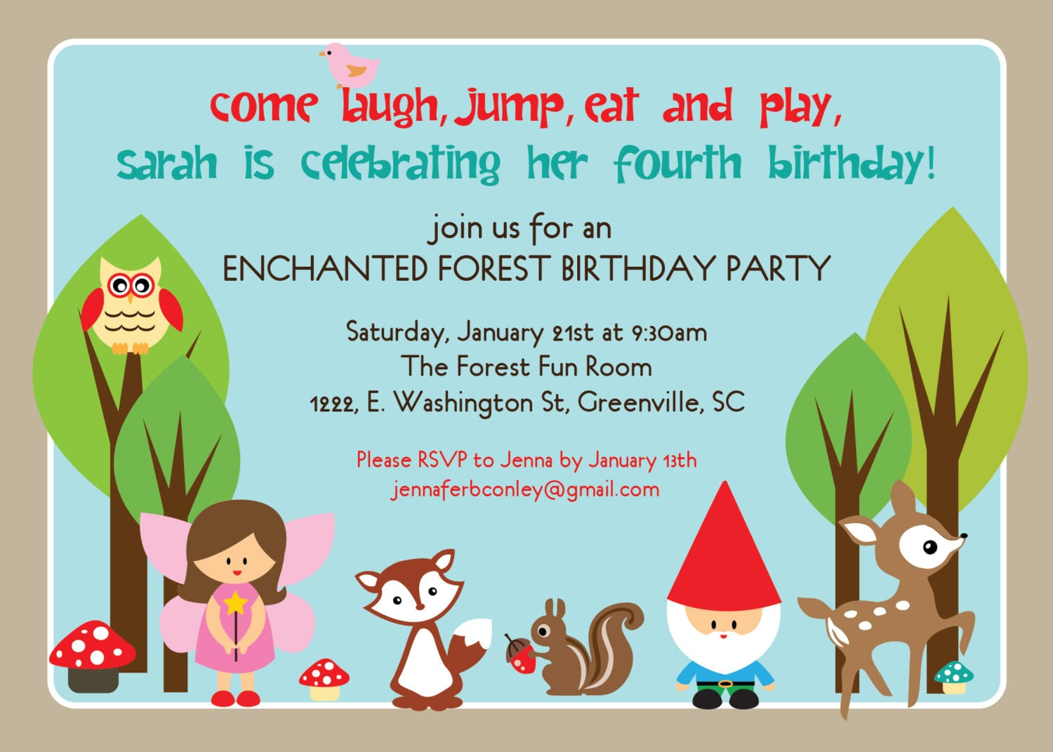 Sample Invitation Letter For Birthday Party