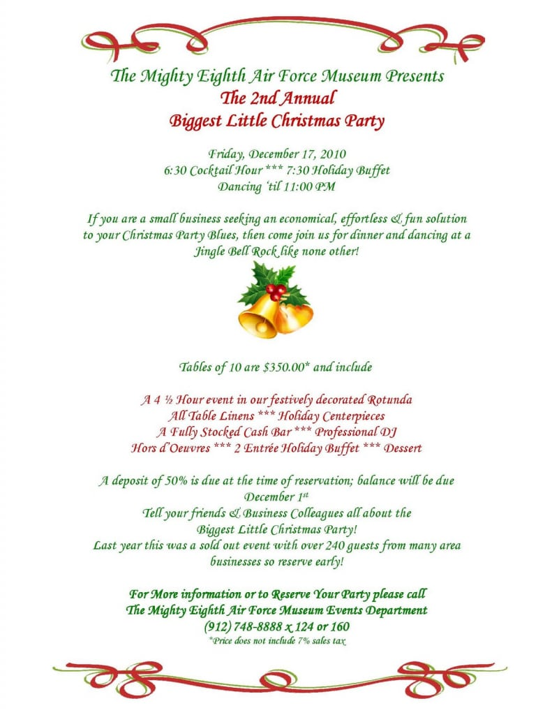 Sample Invitation Letter For Party  Christmas Party Invitation