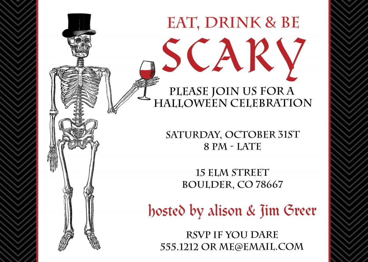 Scary Halloween Party Invitation Wording