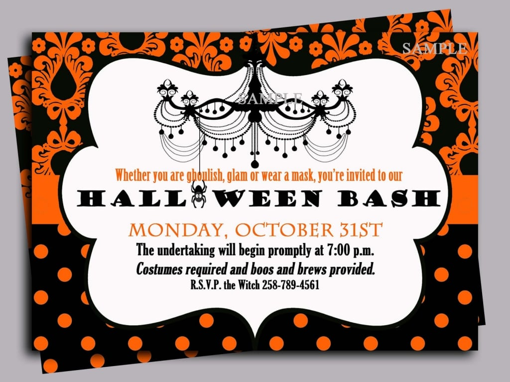Scary Halloween Party Invitation Wording Cards Ideas With Scary