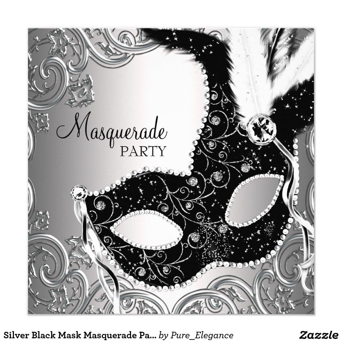 Masquerade Party Invitations Templates - Mickey Mouse Invitations ...