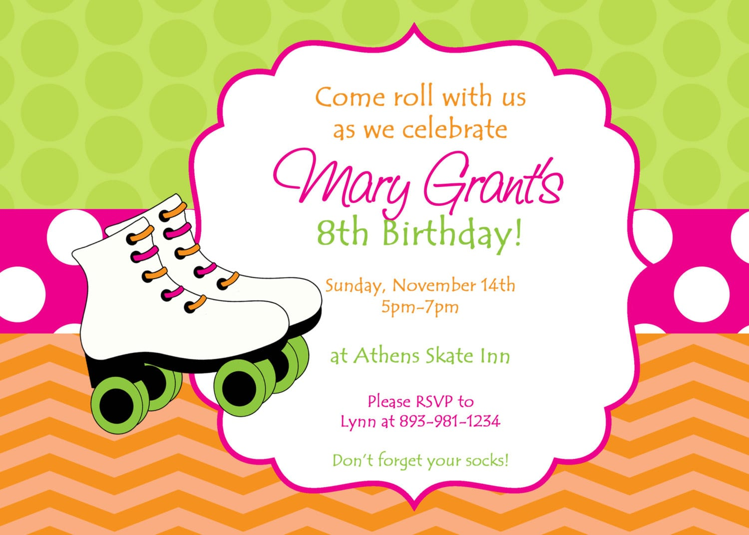 Skate Party Invitation Template  Ice Skating Birthday Party Party