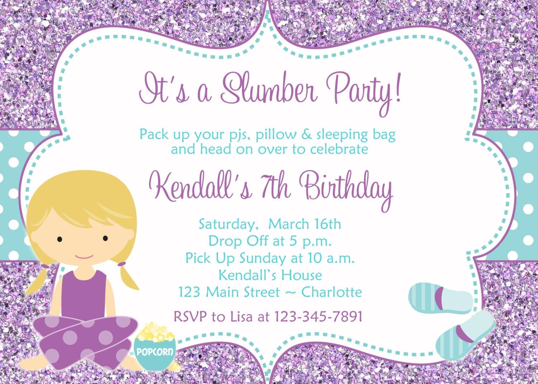 Slumber Party Invites – Gangcraft Net