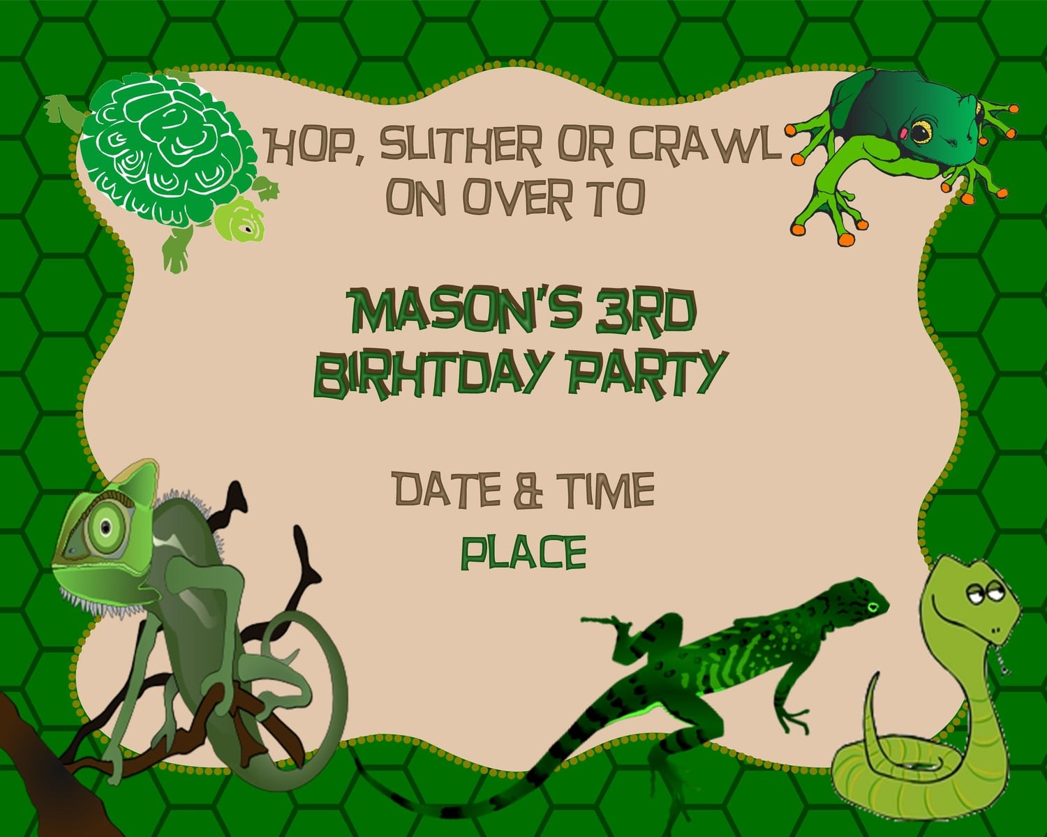 Reptile themed birthday party invitations 4k wiki wallpapers 2018 previousnext filmwisefo