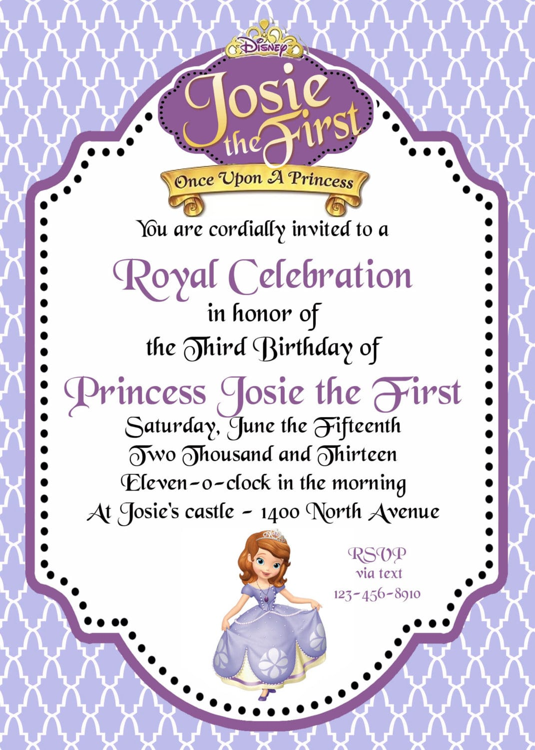 Sofia The First Party Invitations – Gangcraft Net