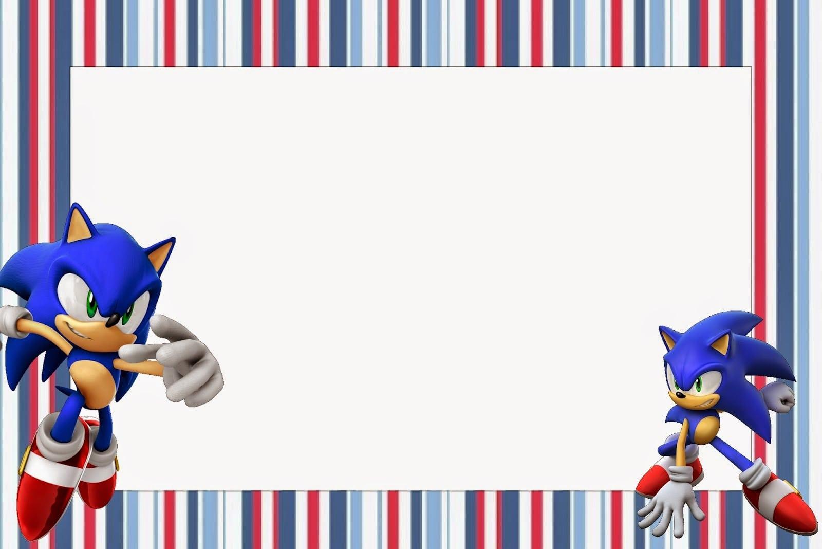Sonic  Free Printable Invitations