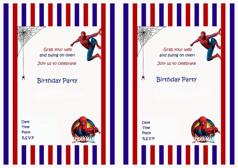 Spiderman Birthday Invitations – Birthday Printable