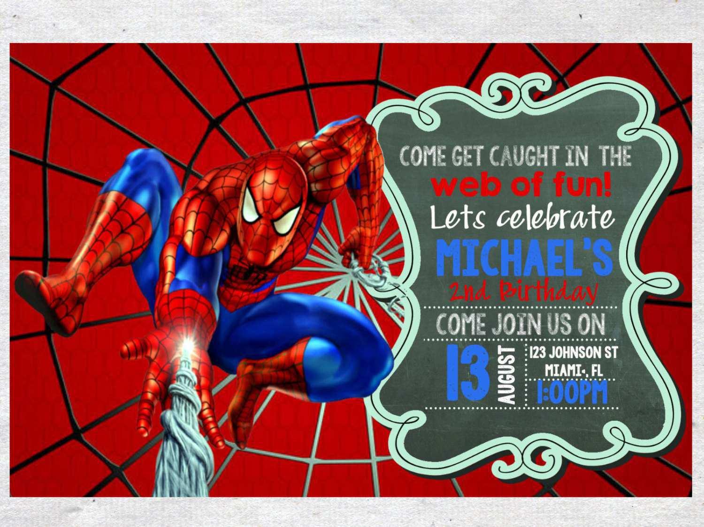 Spiderman Party Invitations – Gangcraft Net