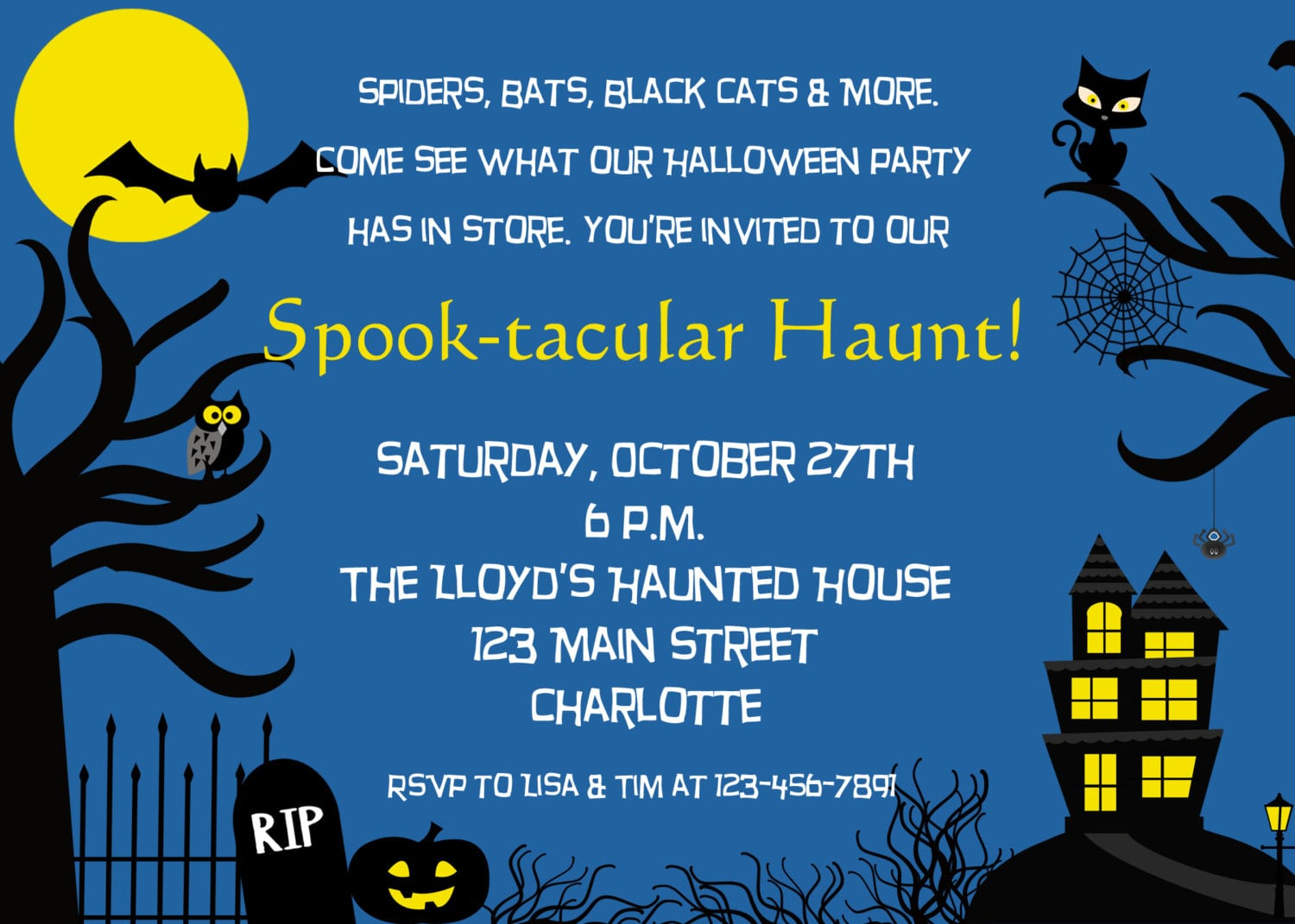 Spooky Party Invitations