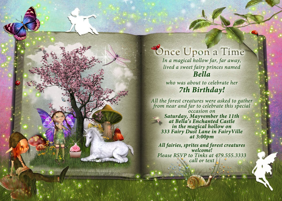 Storybook Party Fairytale Party Invitations Storybook