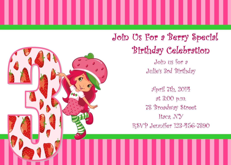 Strawberry shortcake birthday party invitations mickey mouse strawberry shortcake birthday party invitations filmwisefo Images