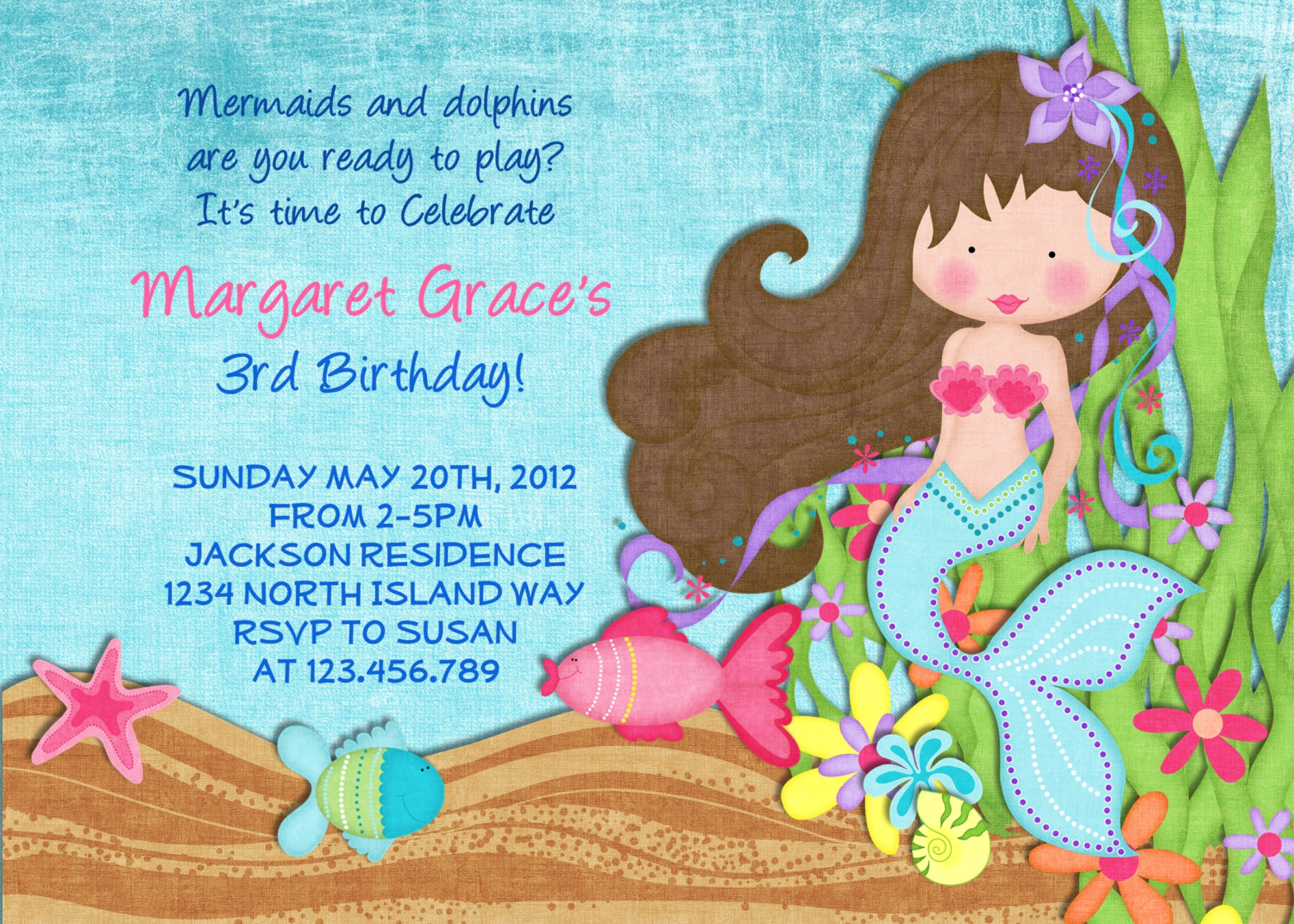 Stunning Mermaid Birthday Party Invitations Which Popular In This