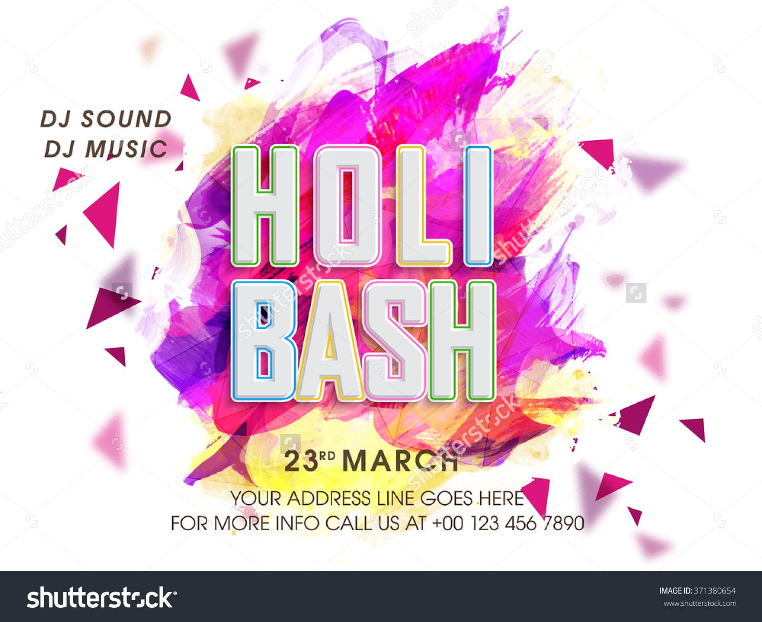 Stylish Party Invitation Card Design Indian Stock Vector 371380654