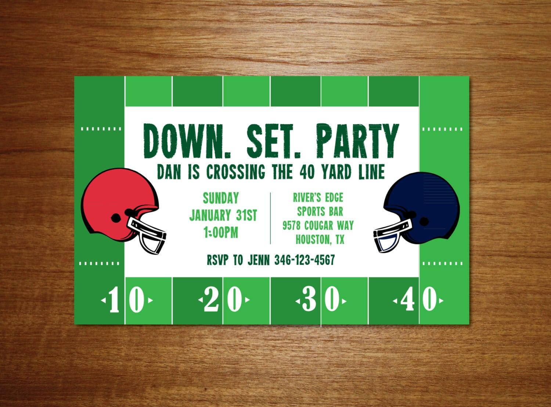 Super Bowl Party Invitations – Gangcraft Net