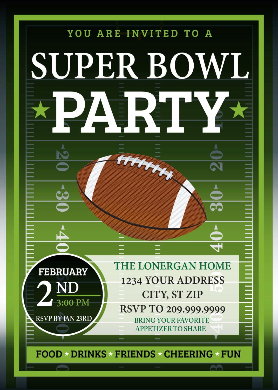 Super Bowl Party Invitations