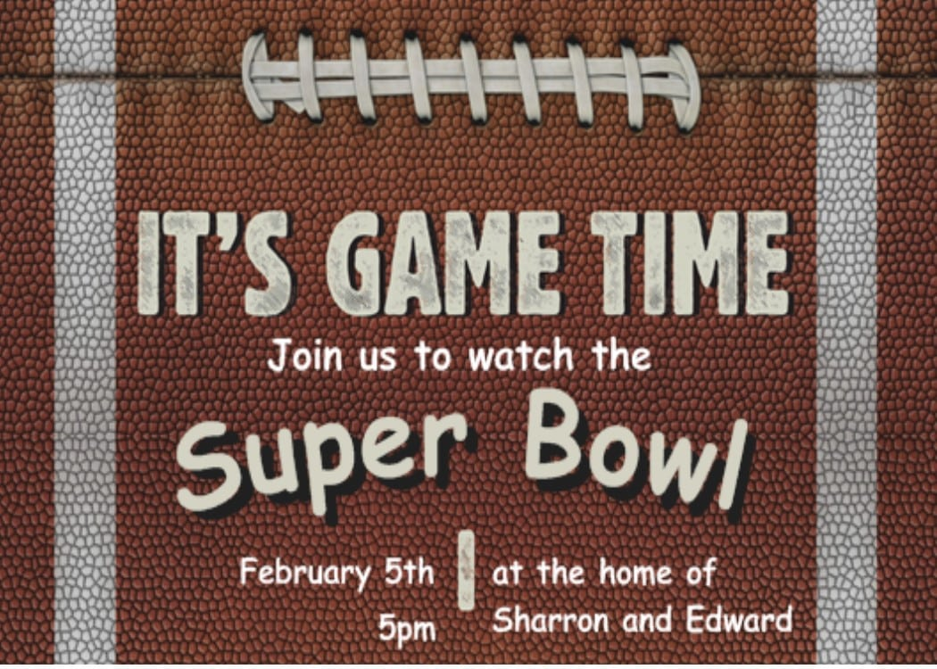 Super Bowl Party Invitations 2017