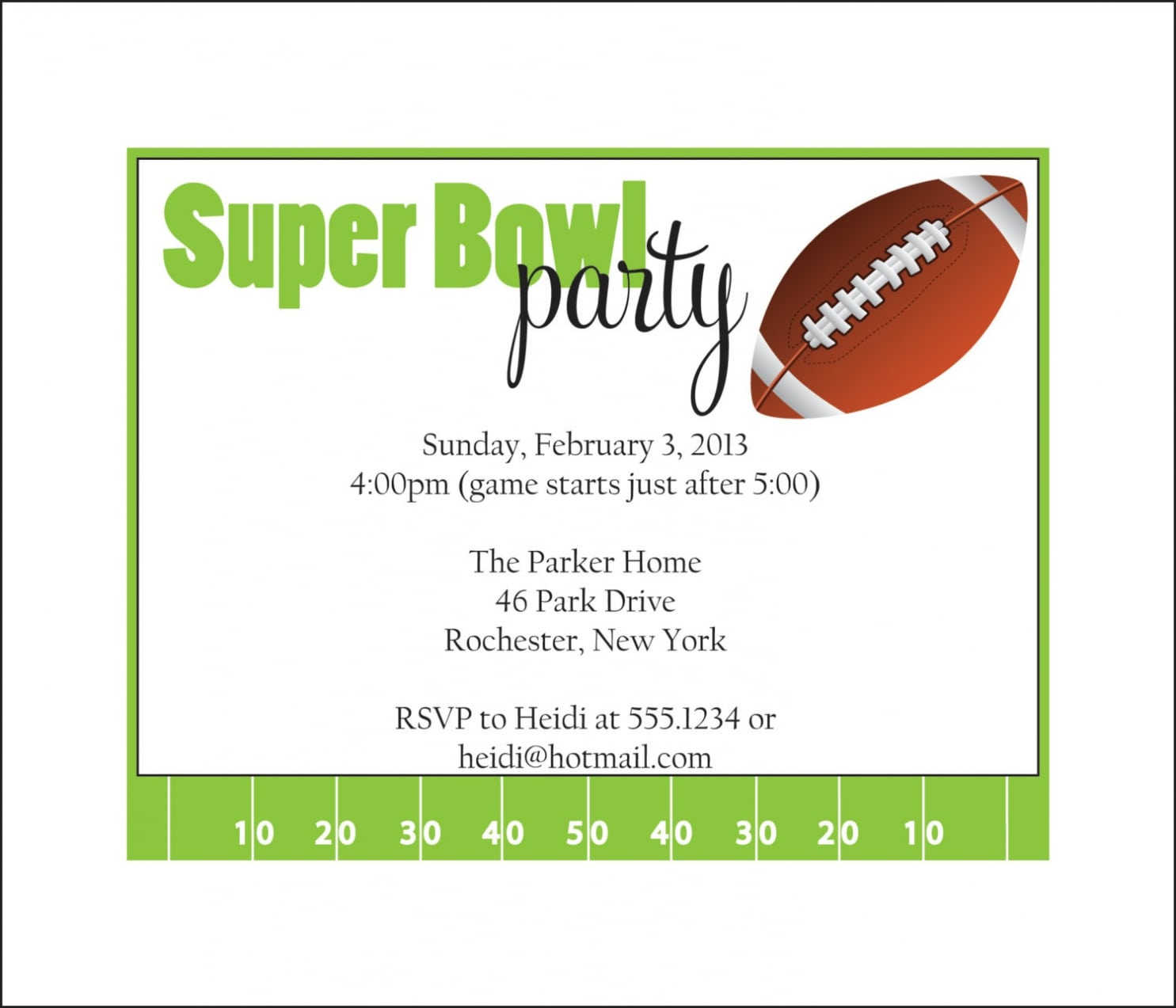 Super Bowl Party Invitations For You