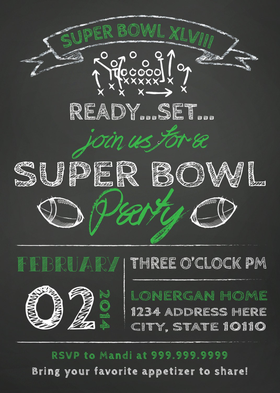 Super Bowl Party Invites