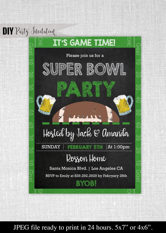 Superbowl Invitation