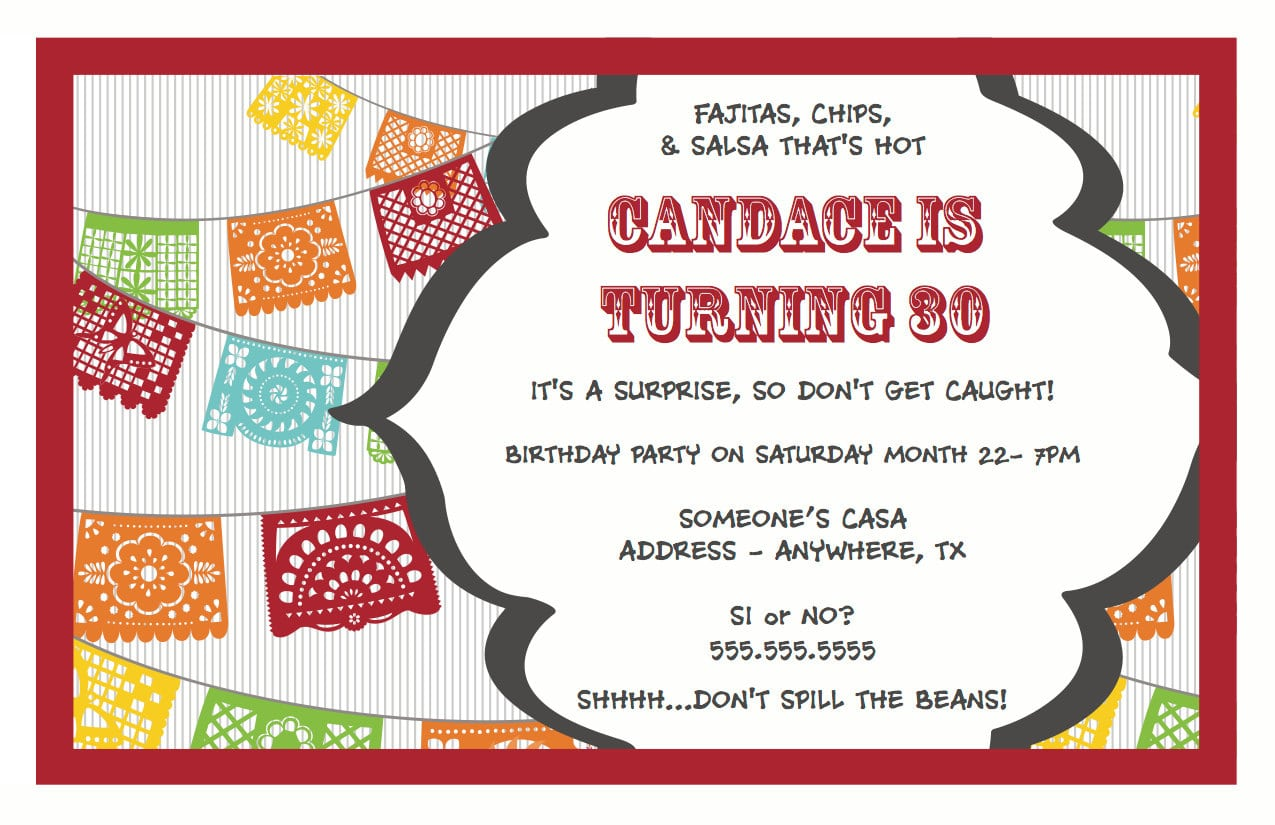 Surprise Birthday Invitations Templates