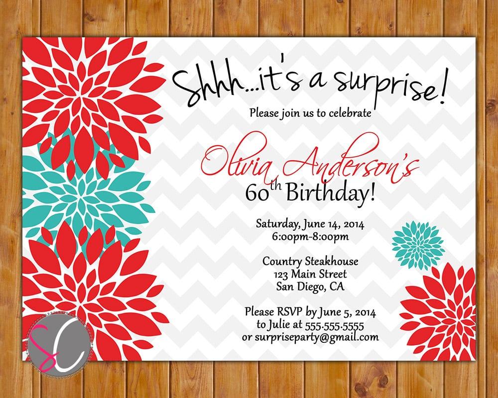 Surprise Birthday Party Invitations – Gangcraft Net