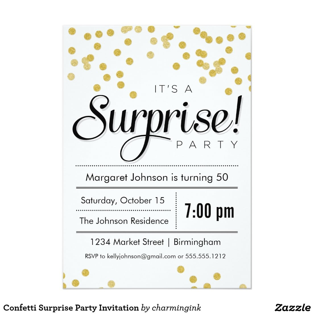 Surprise Party Invitation Simple Surprise Party Invitation 60