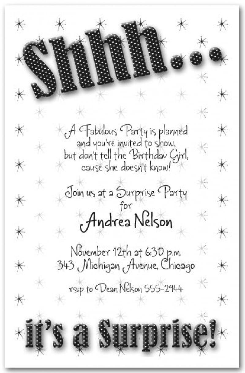 Free Printable Surprise Birthday Party Invitation Templates - Life ...