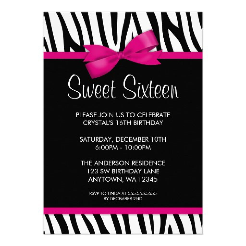 Sweet 16 Party Invitations Templates Lovely Sweet 16 Party