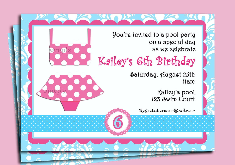 Swim Party Invitations – Gangcraft Net