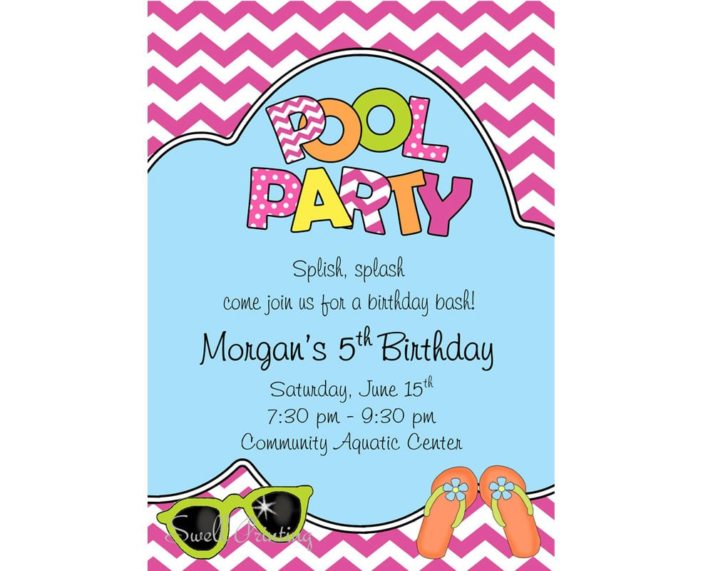 Swimming Party Invitations – Gangcraft Net