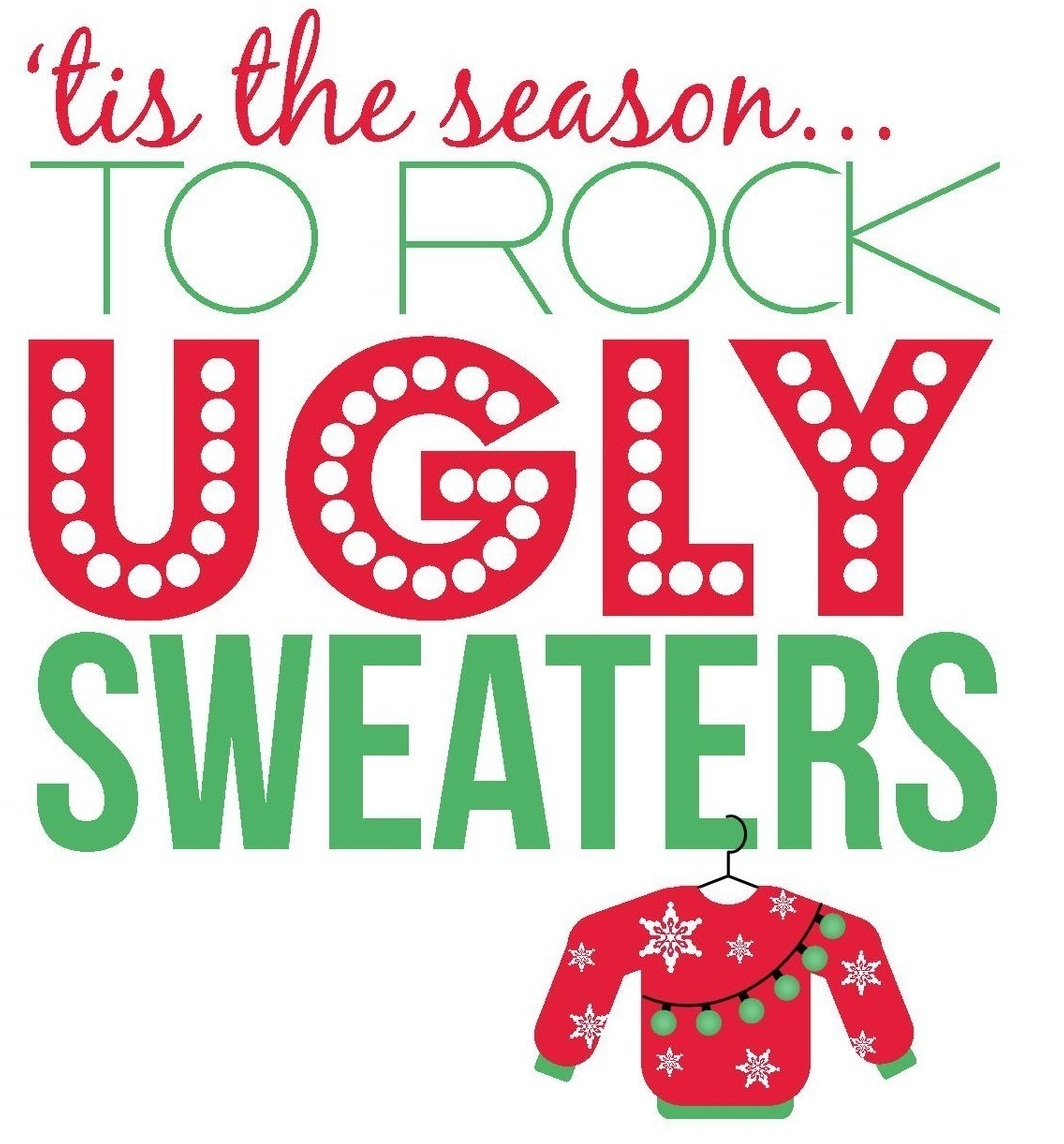 Tacky Christmas Sweater Party Invitation Wording