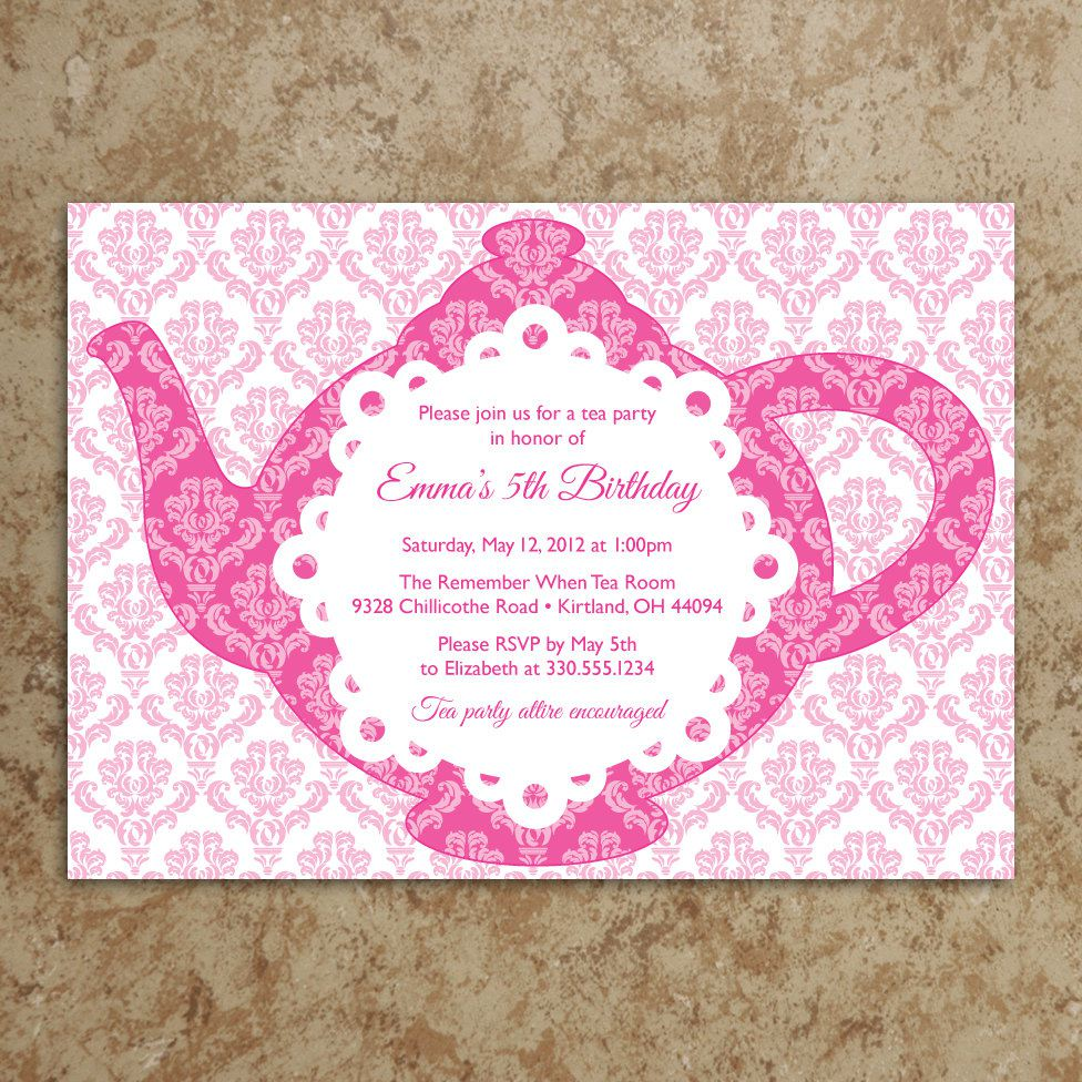 Tea Party Baby Shower Invitations Printable   Shower Biji Us