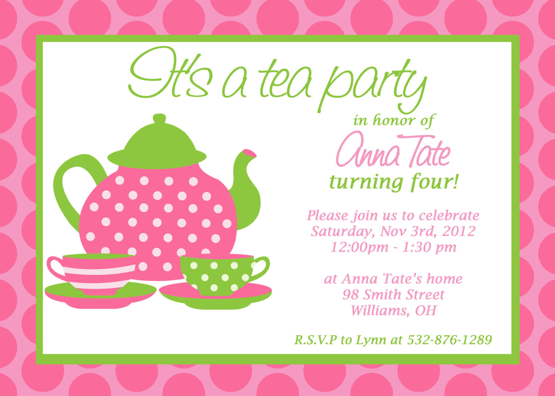 Tea Party Invitations - Mickey Mouse Invitations Templates