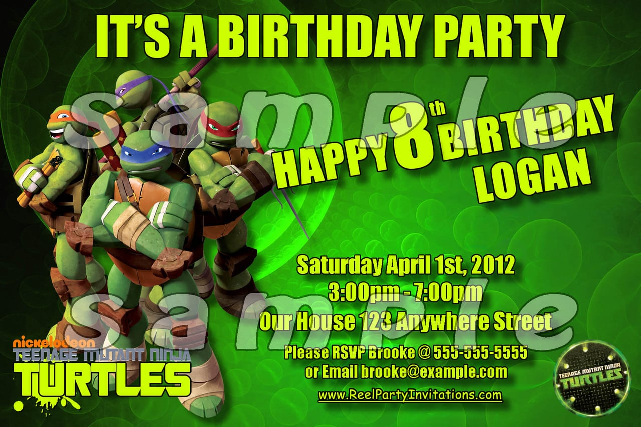 Teenage Mutant Ninja Turtles Party Invitations – Gangcraft Net