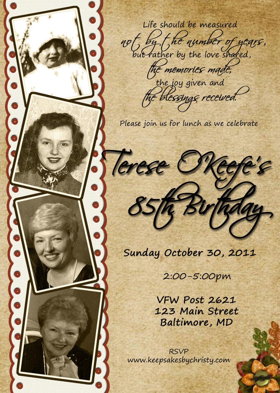 Template Clever 90th Birthday Invitations 90th Birthday Invitations