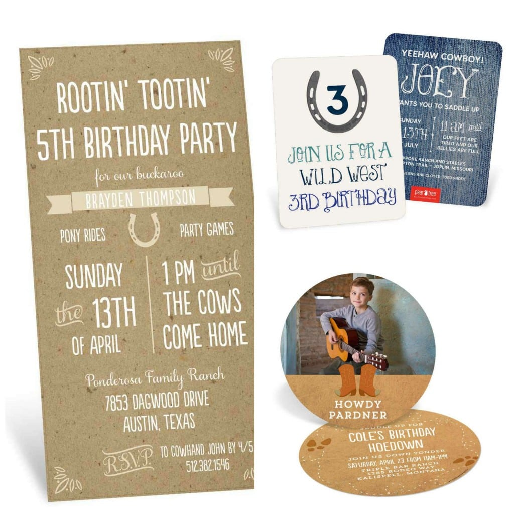 Template Western Birthday Invitations Wording Cards Western