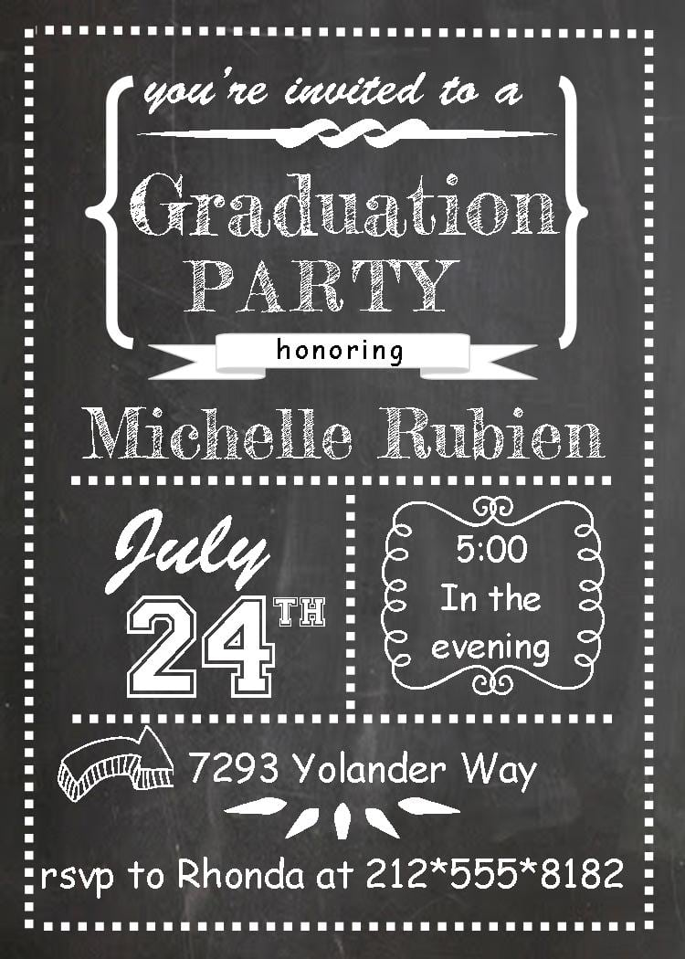 Templates Amazing Graduation Party Invitation Templates For Word