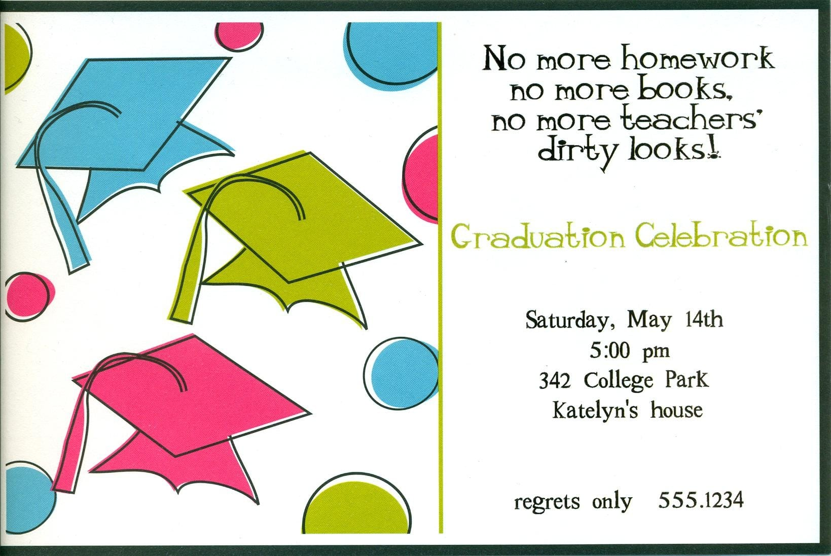 Templates Cheap Graduation Party Invitations Print At Home With