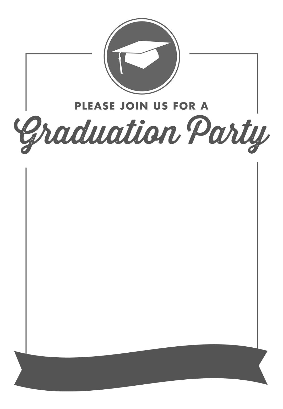 Templates Free Printable Graduation Party Invitations Templates