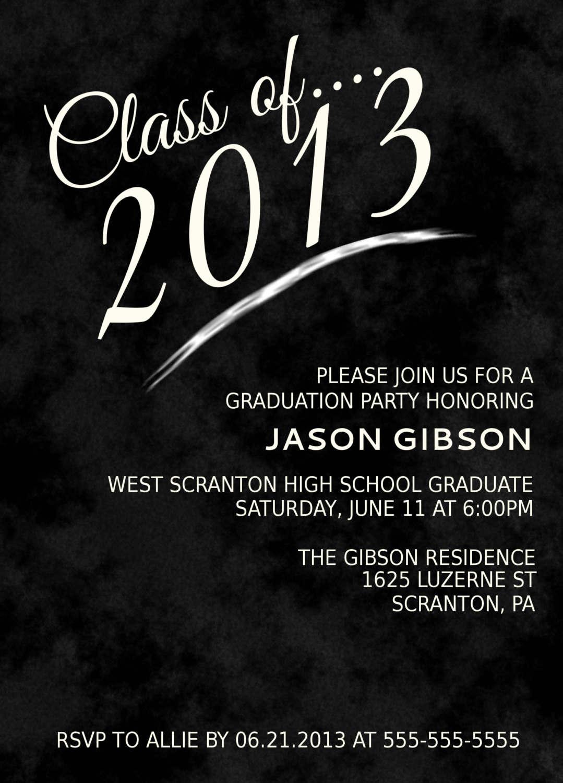 Templates Graduation Party Invitations Templates 2016 Graduation