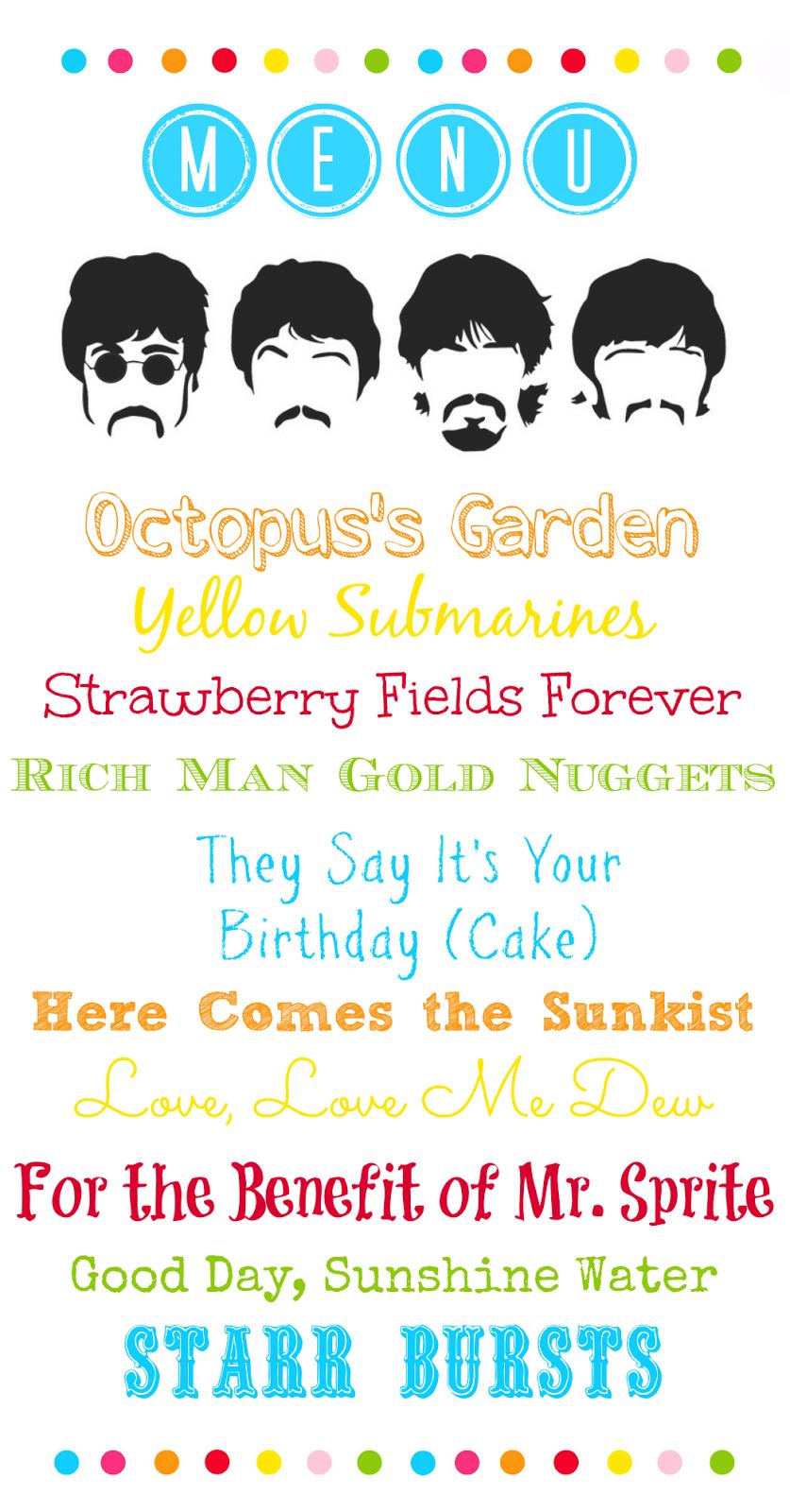 The Beatles Inspired Birthday Party Invitation