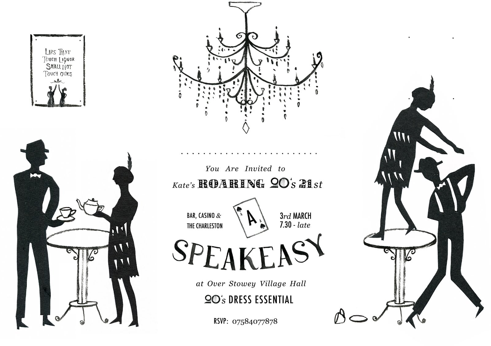 The Daily Bailey  Roaring 20's Party Invitation